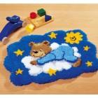 Медвежонок на облаке Набор для вышивания коврика VERVACO