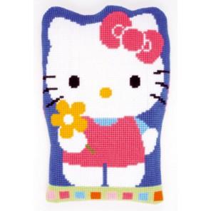 Hello Kitty с цветком Набор для вышивания подушки VERVACO