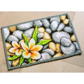 Цветы на камнях Набор для вышивания коврика VERVACO