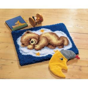 Спящий мишка Набор для вышивания коврика VERVACO