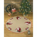Санта и снеговик Набор для вышивания коврика под ёлку PERMIN