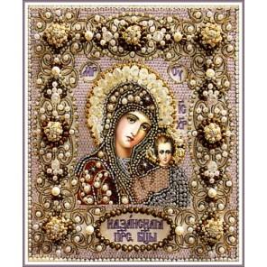 Казанская Божия Матерь Набор для вышивания хрустальными бусинами СТУДИЯ ВЫШИВКИ