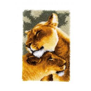 Львы II Набор для вышивания коврика VERVACO