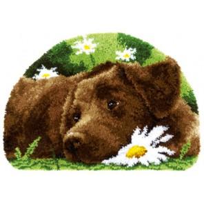 Шоколадный лабрадор Набор для вышивания коврика VERVACO
