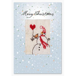 Снеговик Набор для изготовления открытки LUCA-S