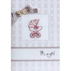 Розовая коляска Набор для изготовления открытки LUCA-S