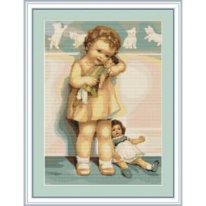 Девочка с куклой Набор для вышивания LUCA-S
