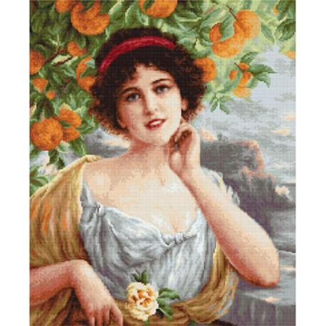 Красавица под апельсиновым деревом Набор для вышивания LUCA-S