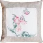 Цветок и бабочка Набор для вышивания подушки LUCA-S