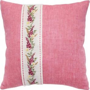 Цветочная гирлянда на канвовой ленте Набор для вышивания подушки LUCA-S