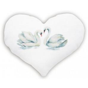 Лебеди Набор для вышивания подушки LUCA-S