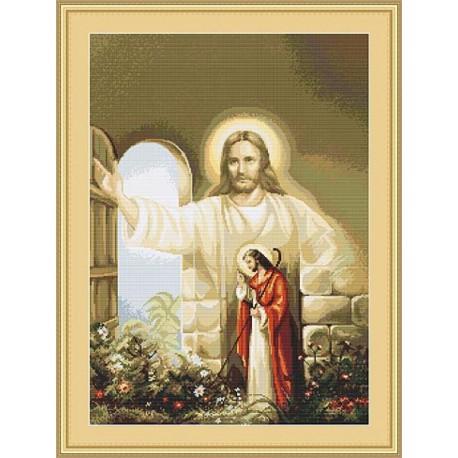 Иисус стучащийся в дверь Набор для вышивания LUCA-S