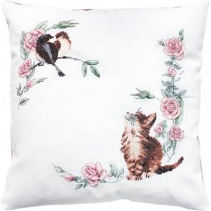 Котенок Набор для вышивания подушки LUCA-S