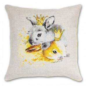 Кролики Набор для вышивания подушки LUCA-S