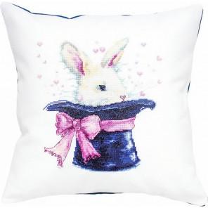 Кролик в шляпе Набор для вышивания подушки LUCA-S