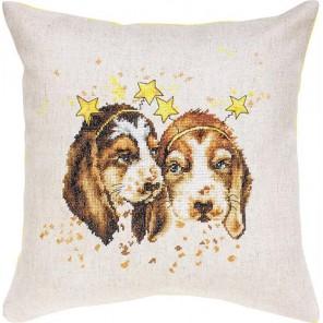 Собачки Набор для вышивания подушки LUCA-S