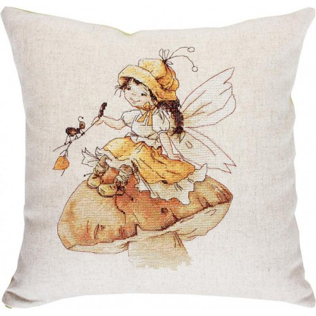 Девочка и муравей Набор для вышивания подушки LUCA-S