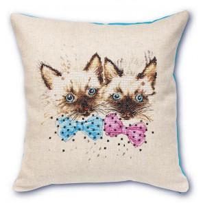Сиамские котята Набор для вышивания подушки LUCA-S