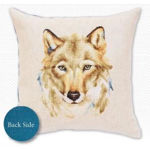 Волк Набор для вышивания подушки LUCA-S