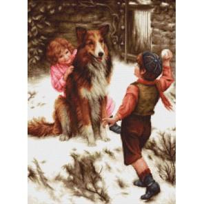 Игра в снежки Набор для вышивания LUCA-S