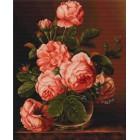 Розы в вазе Набор для вышивания LUCA-S
