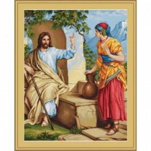 Иисус и самаритянка Набор для вышивания LUCA-S