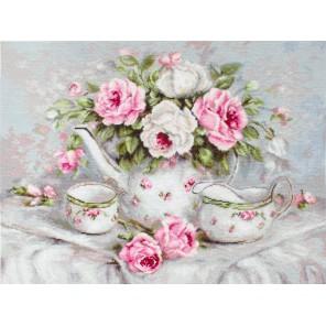 Чайный сервиз и розы Набор для вышивания LUCA-S