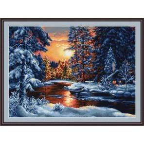 Зимний закат Набор для вышивания LUCA-S