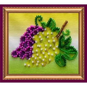 Гроздь винограда Набор для вышивки бисером магнита АБРИС АРТ