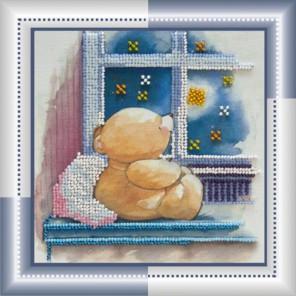 Звездная ночь Набор для вышивки бисером на натуральном художественном холсте АБРИС АРТ
