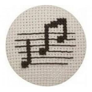 Ноты Набор для вышивания пуговицы PERMIN
