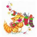 Без кота - жизнь не та! Рукоделов Набор для вышивания бисером МАТРЕНИН ПОСАД