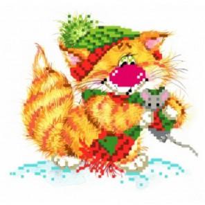 Без кота - жизнь не та! Вместе теплее Набор для вышивания бисер-ленты МАТРЕНИН ПОСАД