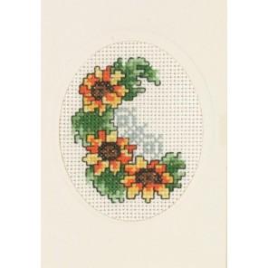 Подсолнухи Набор для вышивания открытки PERMIN