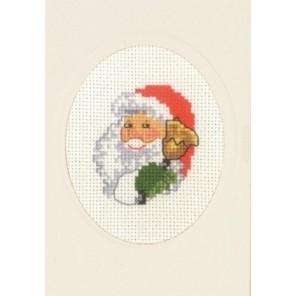 Санта с колокольчиком Набор для вышивания открытки PERMIN