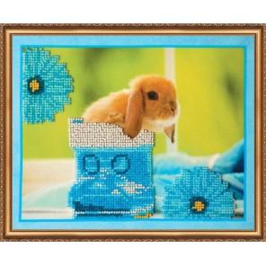 Кролики-3 Набор для вышивки бисером на натуральном художественном холсте АБРИС АРТ
