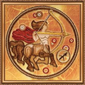 Знак Зодиака Набор для вышивки бисером на натуральном художественном холсте АБРИС АРТ