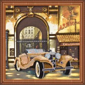 Авто ретро-2 Набор для вышивки бисером на натуральном художественном холсте АБРИС АРТ