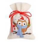 Совёнок с шарфом Набор для вышивания мешочка VERVACO