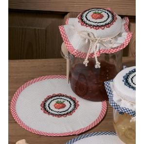 Клубника Набор для вышивания салфетки PERMIN