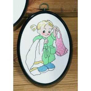Ванная - девочка Набор для вышивания PERMIN