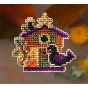 Домик Хэллоуин Набор для вышивания бисером MILL HILL