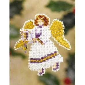 Снежный ангел Набор для вышивания бисером MILL HILL
