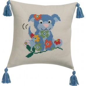 Собака набор для вышивания подушки PERMIN