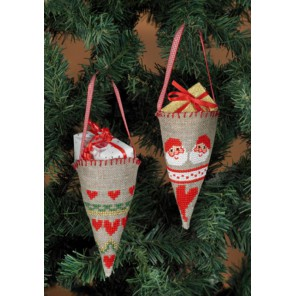 Рождество Набор для вышивания ёлочных украшений PERMIN