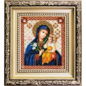 Божья Матерь Неувядаемый цвет Набор для вышивания бисером Икона Чаривна Мить