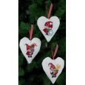Санта и Снеговик Набор для вышивания украшений на ёлку PERMIN