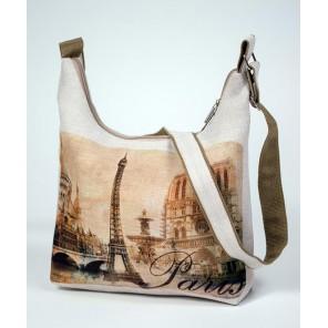 Декоративная сумка из холста - Париж Набор для шитья и вышивания, МАТРЕНИН ПОСАД
