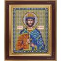 Святой благоверный князь Борис Набор для вышивания бисером Икона GALLA COLLECTION