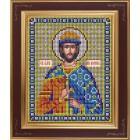 Святой благоверный князь Борис Комплект для вышивания бисером Икона GALLA COLLECTION
